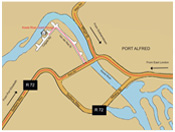 Port Alfred Map, Kowie River Guest House